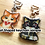 Thumbnail: Heart shaped keychains, Cat shaped clasp