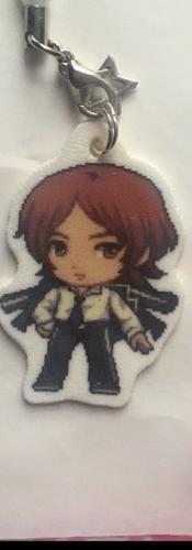Persona 2 Tatsuya white keychain