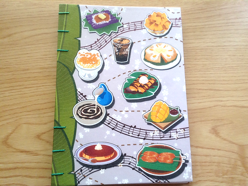 Sparkly Filipino Food Journal (A6/A5 size)