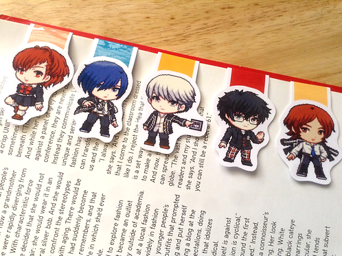 Persona heroes magnetic bookmarks