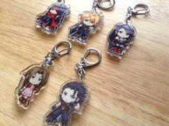 FF7 acrylic keychains
