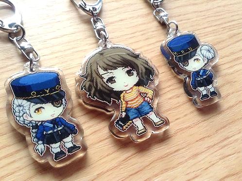 Persona 5 Acrylic Keychain (Sadayo, Justine, Caroline)