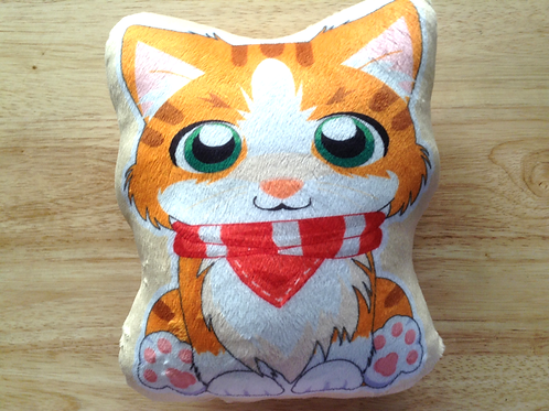 Orange Tabby Cat Pillow