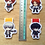 Thumbnail: Persona heroes magnetic bookmarks