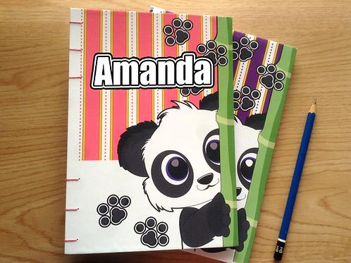 Personalized Panda Journal (A5 size)