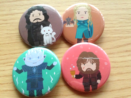 Game of Thrones button pins