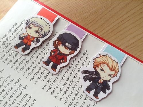 Persona magnetic bookmarks (Akihiko, Shinji, Kanji)