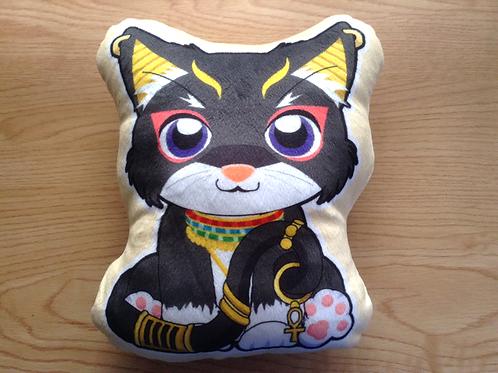 Black Egyptian Cat Pillow