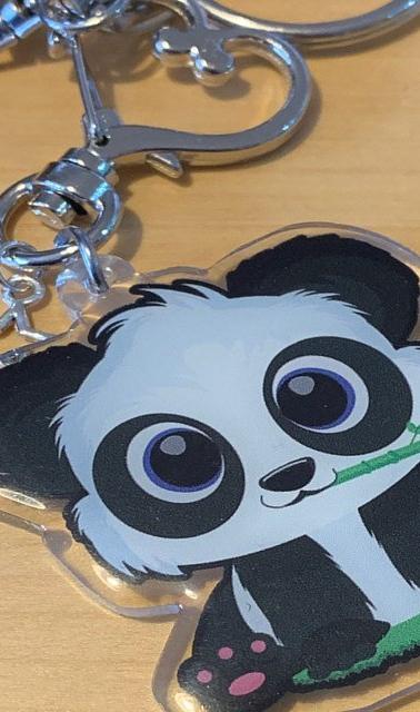 Panda acrylic keychain