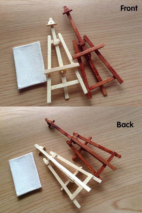 1/12 Miniature Adjustable Easel with Canvas