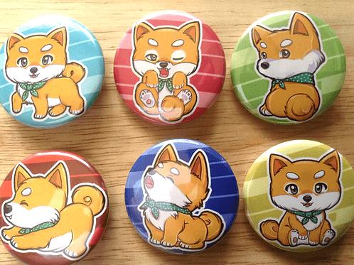 Shiba Inu button pins
