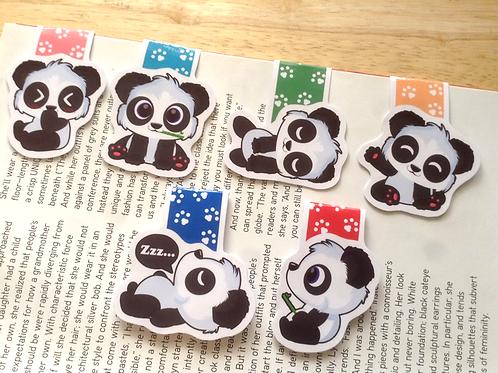 Panda magnetic bookmarks (mini)