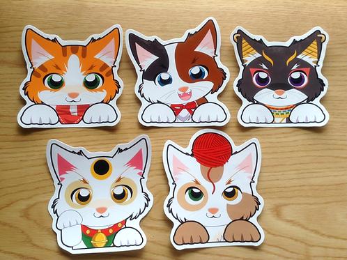Peeking  Cat Vinyl stickers (Waterproof)