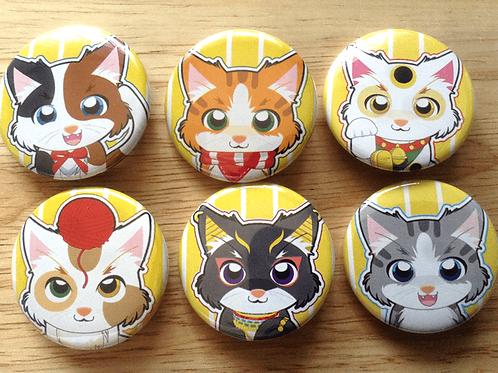 Cat button pins