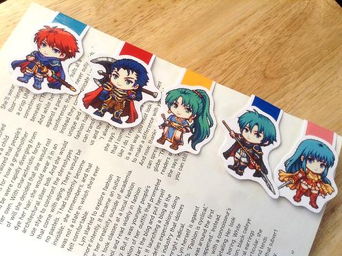 Fire Emblem magnetic bookmarks