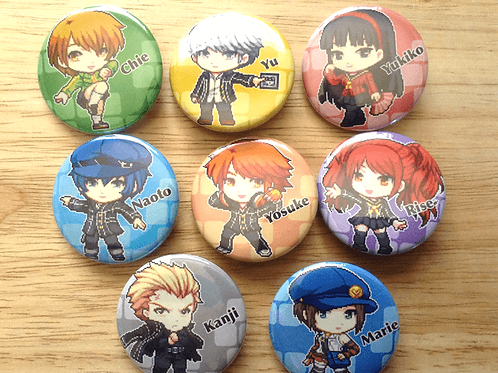 Persona 4 button pins