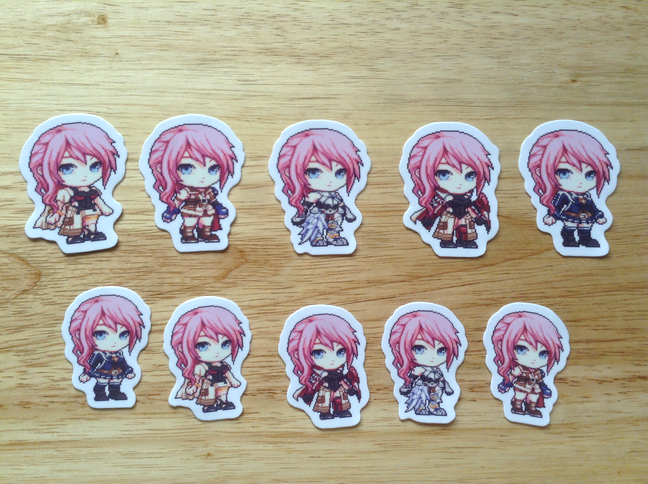 FFXIII Lightning Stickers