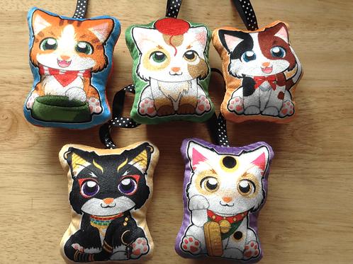 Cat mini pillows