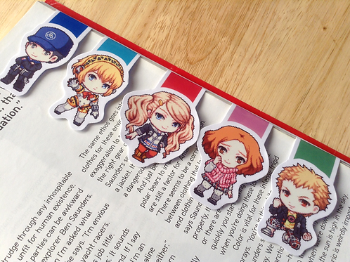 Persona magnetic bookmarks (Aigis, Junpei, Ann, Haru, Ryuji)