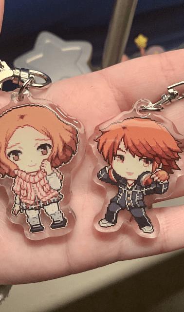 Yosuke and Haru acrylic keychains