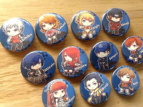 Persona 3 button pins