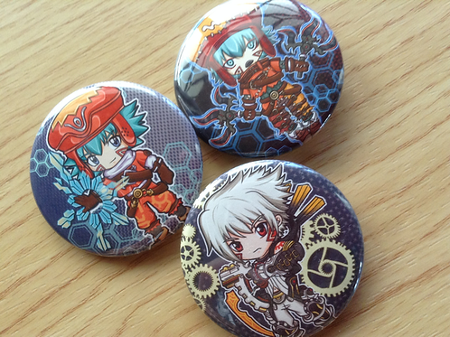 .hack button pins (Kite, Azure Kite, Haseo)