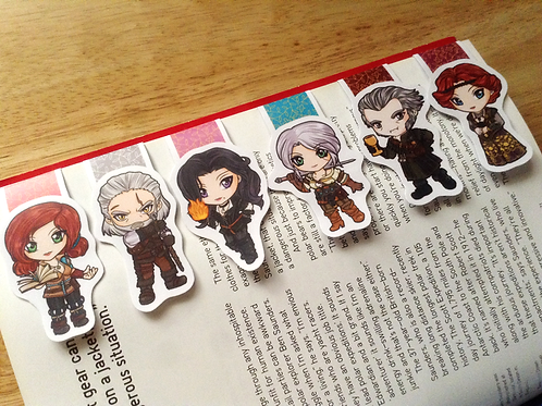 Witcher 3 magnetic bookmarks