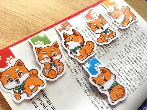 Shiba Inu magnetic bookmarks