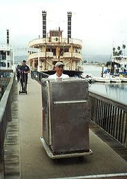 Carter Hoffmann Holding Cart being unloaded