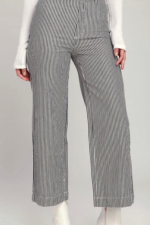 Old Mate Navy Stripe Pant