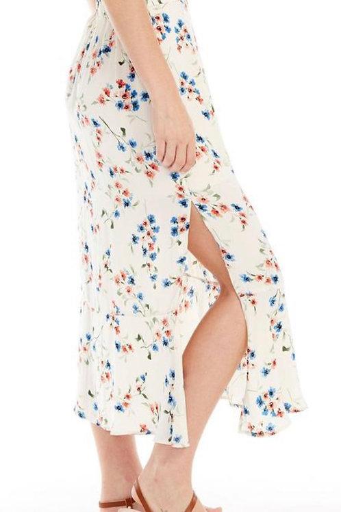 Midi Skirt in Vanilla Blossom