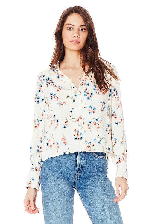 Long Sleeve Blouse in Vanilla Blossom