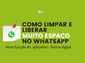 Como limpar e LIBERAR MUITO ESPAÇO no seu WhatsApp - Nova Função (Faxina Digital)