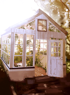 Old Greenhouse Painting Study