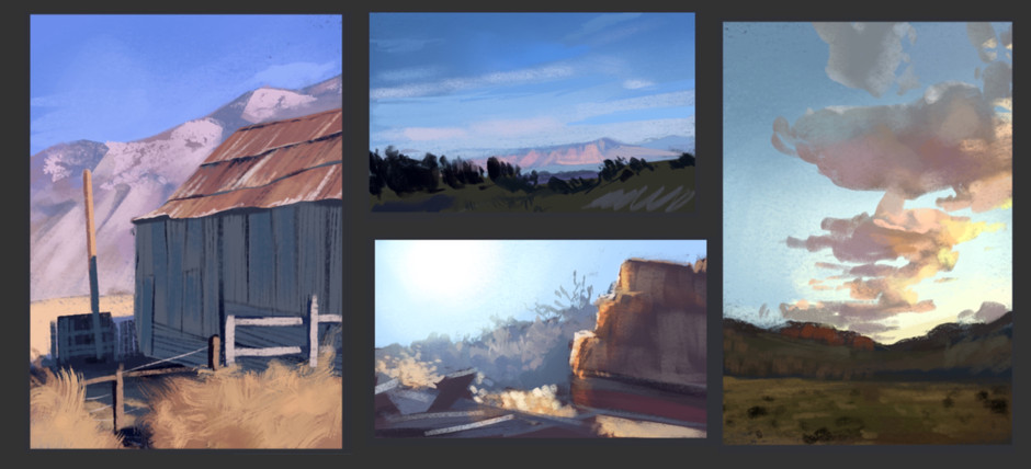 Environment Studies from Life