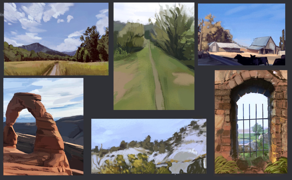 Environment Studies from Personal Photography