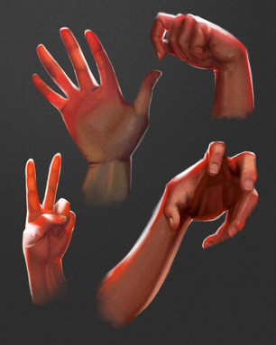 Hand Pose Study from Life