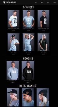 Zandr Online Store (Showcasing Apparel)
