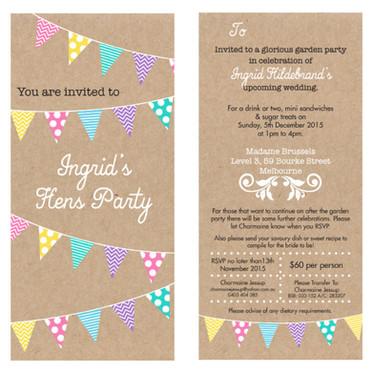 Hens Party Invitation