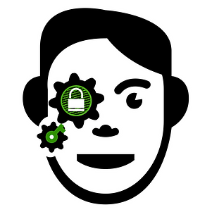 The Decrypter logo. A person decrypting the world of crypto investing.