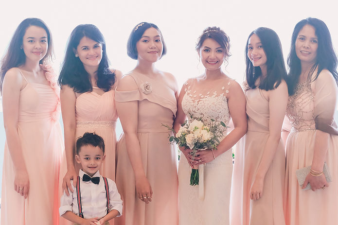 sg wedding bridesmaid photo