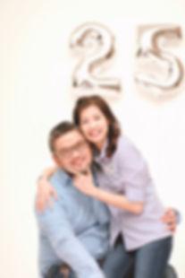 wedding anniversary studio shoot