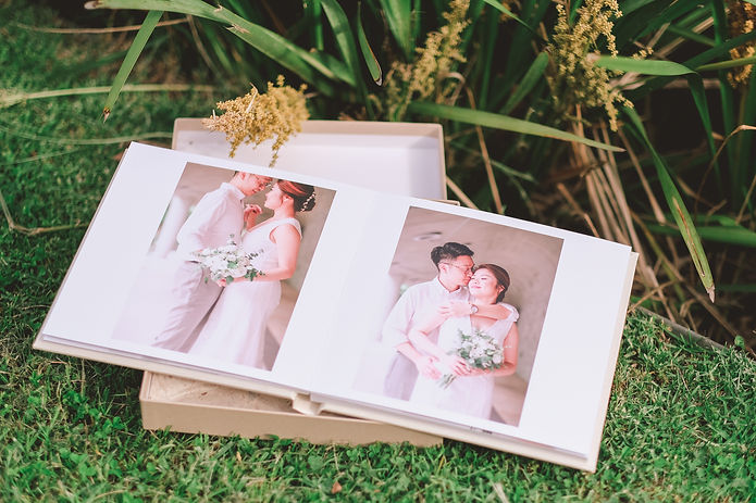 weddng album design and print