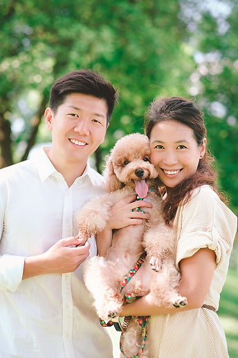 Couple & dog