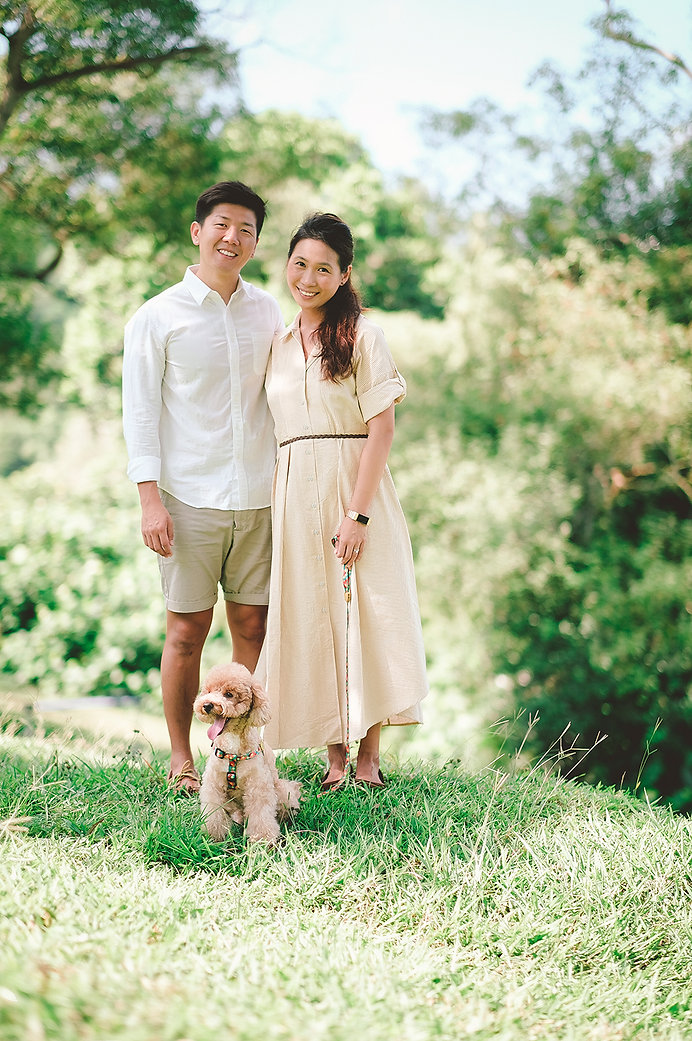 Couple & dog photoshoot