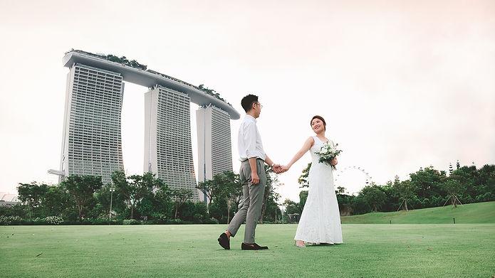 Pre-wedding shoot singapore gardens by the bay