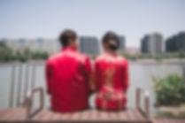 Jurong Lake Park wedding photo