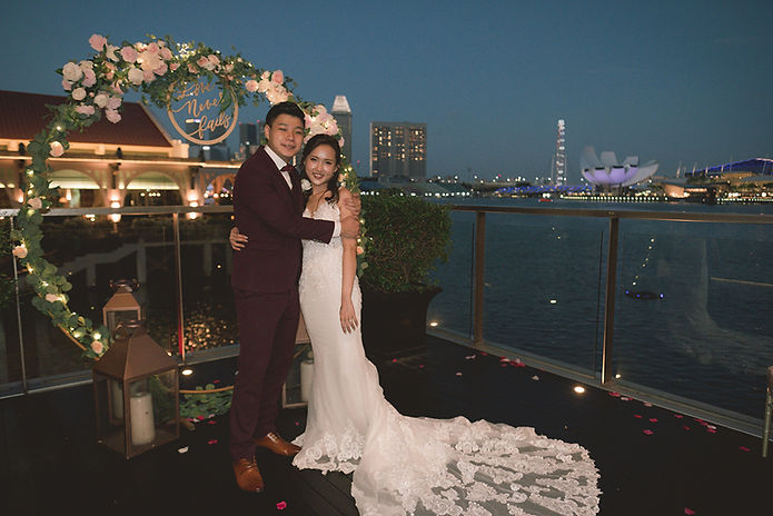 Fullerton Bay Wedding Photo