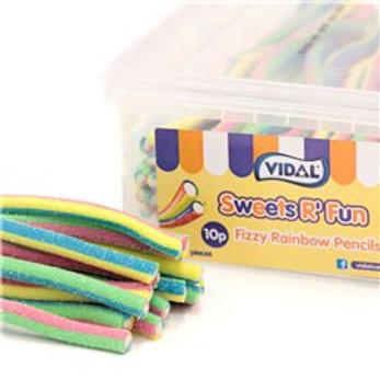 Vidal Fizzy Rainbow Pencils Tub