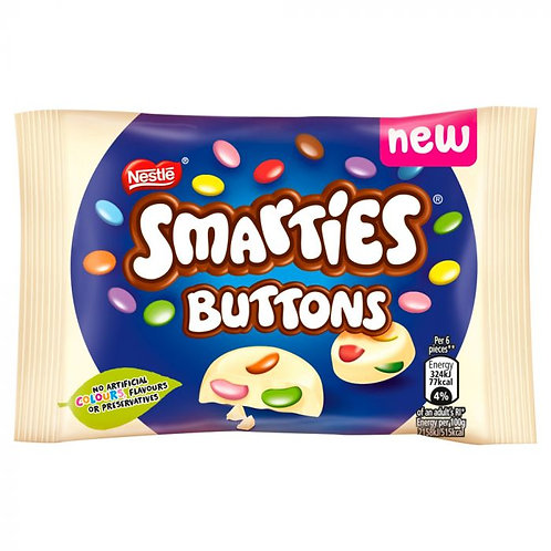 Smarties White Chocolate Buttons Pouch